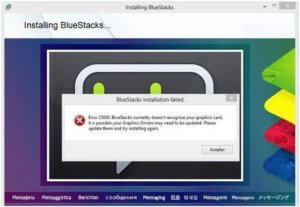 Bluestacks-error