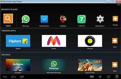 bluestacks categories screen