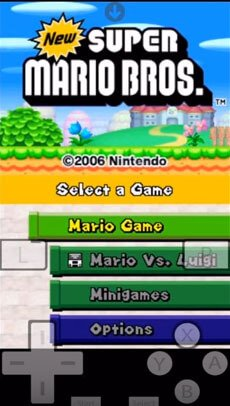 new super mario for NDS4iOS on ios 9