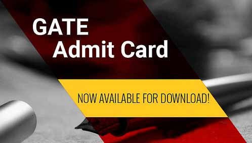 download gate 2016 admit card available