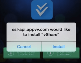 vshare for ios 9 confirm install