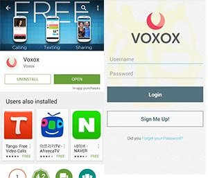 whatsapp without phone number using voxox