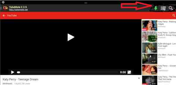 Download YouTube videos using tubemate for pc
