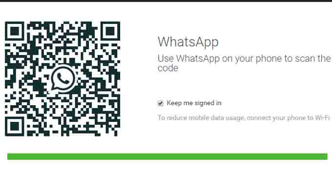 whatsapp web scan qr code