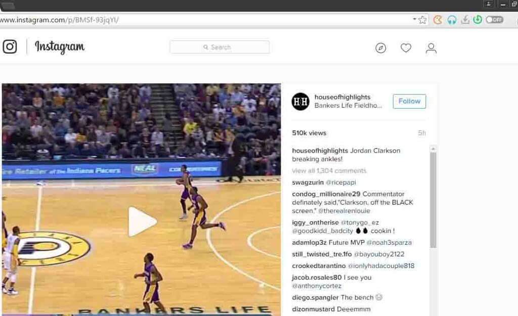 download instagram videos via torch browser