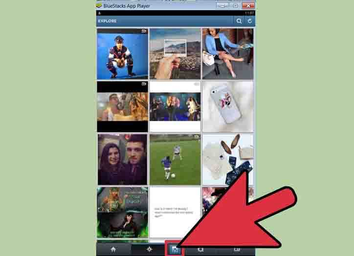 upload to instagram on pc via bluestacks
