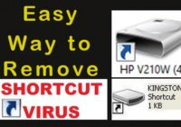 remove shortcut virus from pc, pen drive, and flash drive