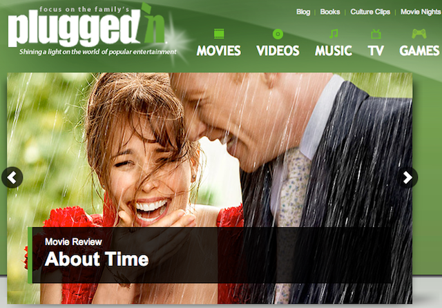 Plugged-In movie review site for parents