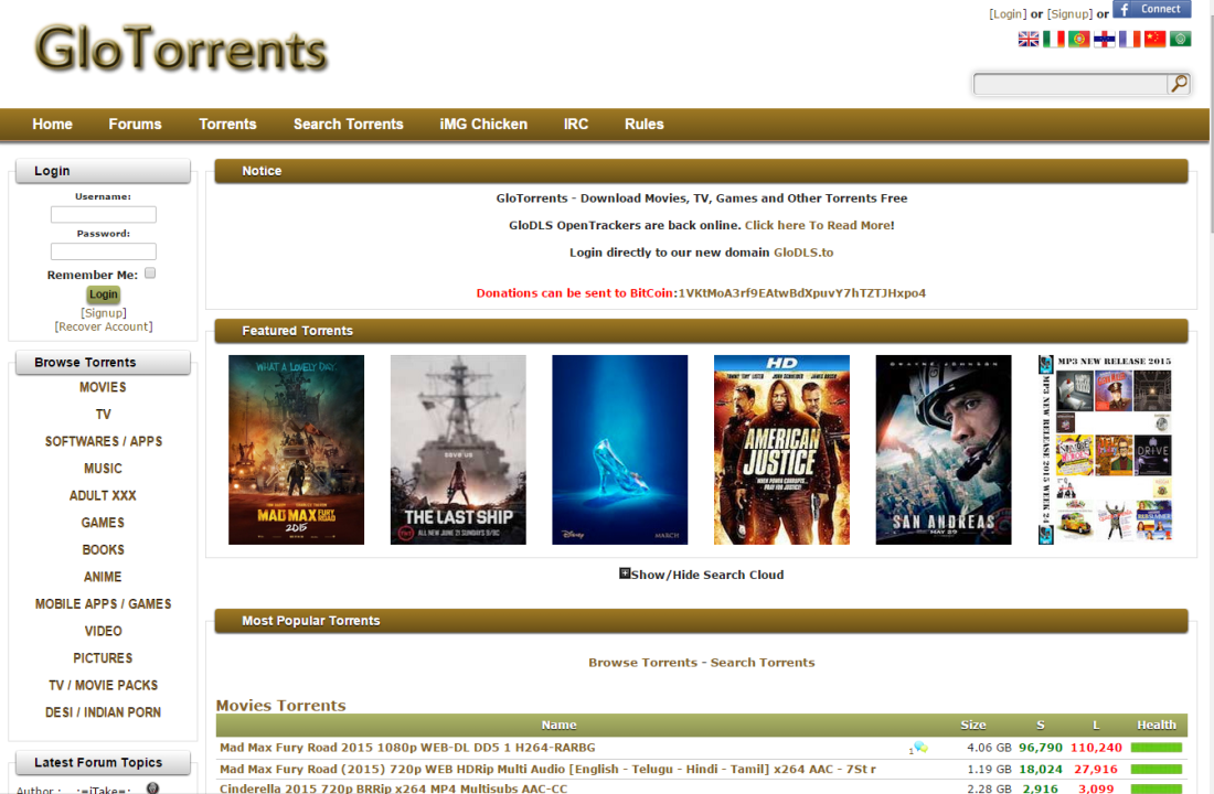 Glotorrents Proxy | List of Glotorrents Official Mirror Sites