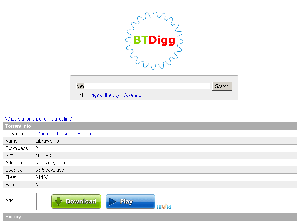 bittorrent dht search engine websites