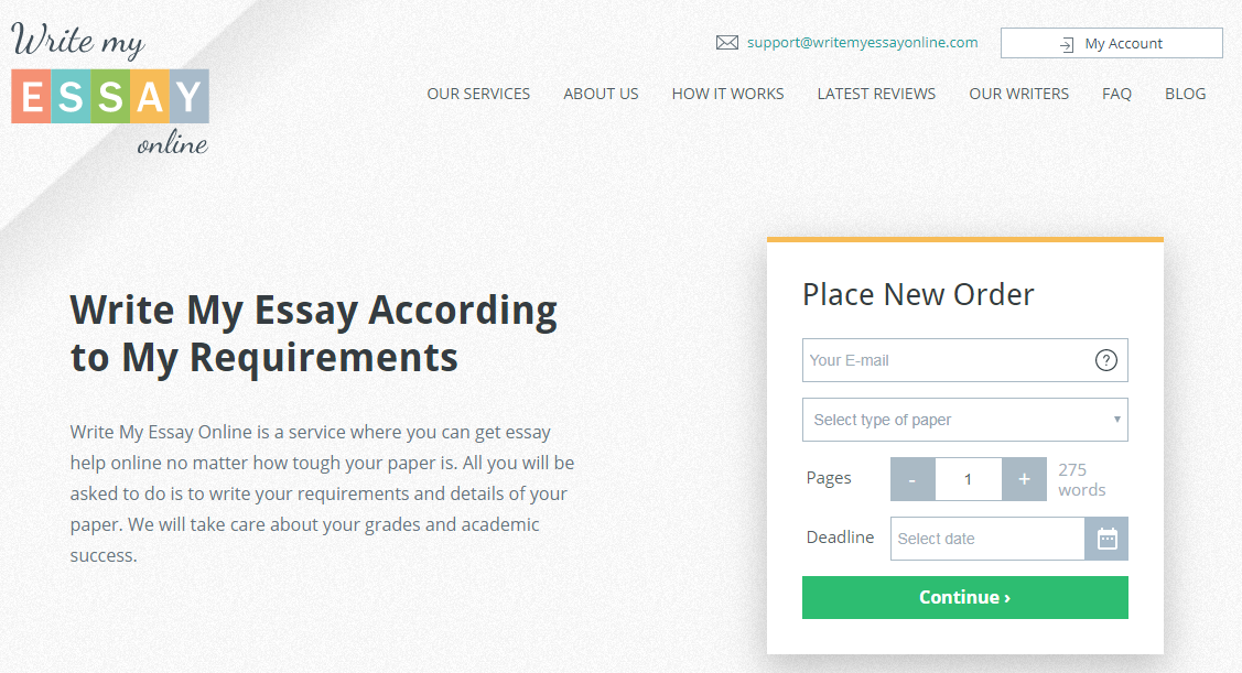 Write My Essay Online - Essay Writing Services at Affordable Prices